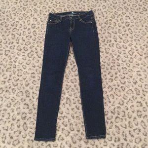 7 for all mankind dark denim skinny jeans